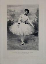 """Eau-forte de GILBERT """"Portrait de Mlle Sanlaville, Danseuse de l'Opéra"""""""