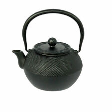 NEW CAST IRON  BLACK JAPANESE TEA POT 1.2 LITRE HOB NAIL DESIGN WITH HANDLE 96