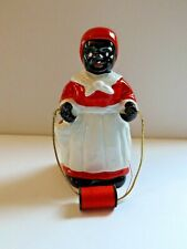 Vintage Black Americana Sewing Figurine With Needle Holder Perfect Condition!