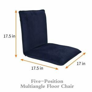 Sundale Adjustable Soft-Brushed Navy Blue Five-Position Multiangle Floor Chair
