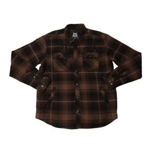 Metal Mulisha Men's Wartime Long Sleeve Flannel Jacket w/ MM Embroidery Size 2X