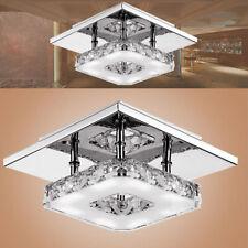 Modern Ceiling Lamp Chandelier Square Pendant Light Crystal Hallway Bedroom Lamp