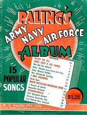 15 WWII Songs ARMY NAVY AIR FORCE Sheet Music Book HITS & our Anthems Au / NZ