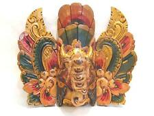 Wooden Ganesha Elephant Mask Hand Carved Wood Bali Wall Art #906
