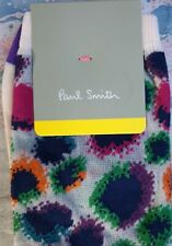 Paul Smith Women Italian Socks Carolina Leopard Sheer Purple & Pink K515 OneSize