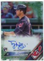 2016 Topps Chrome Rookie Autograph Green Refractor AUTO RC /99 Tyler Naquin