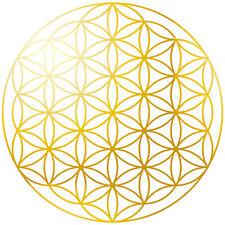 Blume des Lebens Aufkleber 50 Stück, abriebfeste Folierung, Handy-Sticker gold