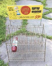 Vintage '65 Little Job Spray Paint Hardware Store Display Case Rack Enamel Sign