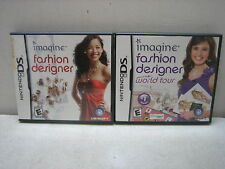 NINTENDO DS IMAGINE FASHION DESIGNER AND WORLD TOUR GAMES COMPLETE