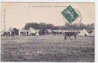 CPA MILITARIA  Camp de Cercottes tentes et chevaux cc1908