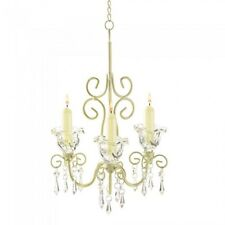 HOME LIGHTING DECOR SHABBY ELEGANCE CANDLE CHANDELIER DISTRESSED FINISH