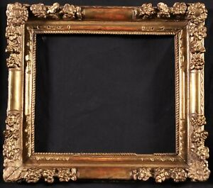 17th CENTURY ORIGINAL LOUIS XIV FINE GILDED & CARVED WOOD FRAME - TO RESTORE