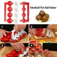 Plastic Meatball Maker Mold Stuffed Fish Meat Ball Easy Mold Scoop Patty Kitchen