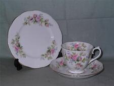 Royal Albert Moss Rose Trio Tea Cup Saucer & Side Plate
