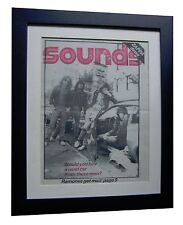 RAMONES+Sounds 1977+Blitzkrieg Bop+POSTER+FRAMED+RARE ORIGINAL+FAST GLOBAL SHIP