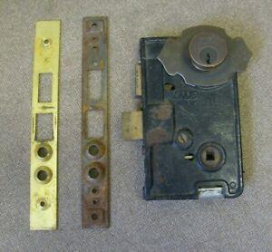 Vintage Yale door lock mechanism As Is and missing parts Yale lock No keys