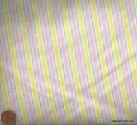 Pink yellow Cozy Cotton flannel Kaufman stripe fabric