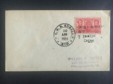 1939 US Navy Post Office Swatow China Cover to USA USS Edsall