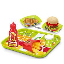 Hamburger Play Food Cheeseburger Cooking Set Kids Pretend Kitchen Truck