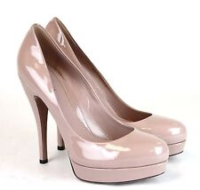 New Authentic Gucci Patent Leather Platform Pump Pink 40.5/10.5 309995 6812