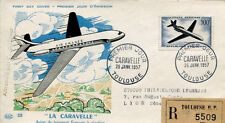 FRANCE FDC - 187 A36 1 CARAVELLE - TOULOUSE 26 1 1957
