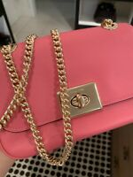 100% New & Authentic Coach Cassidy Cross Body Bag Pink Ruby Leather $298 F73089