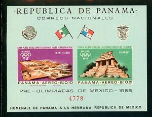 Panama Scott #477F IMPERF MNH S/S OLYMPICS 1968 Michel BL #69 CV$18+