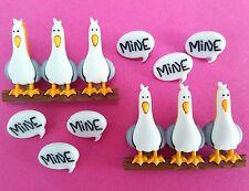 SIX SEAGULLS - Disney Finding Nemo Dory Mine Sea Bird Dress It Up Craft Buttons