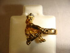 gold panner pin with gold pan black hills gold look miner prospector hat pin