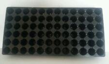 10 Black Plastic PLUG SHEETS - 72 cells per flat- INSERTS SEED STARTING