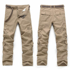 Casual Men's Army Pants Camo Trousers Combat Military Cargo Waist Work Male UK