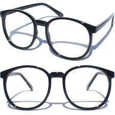 f591a28e41 Lente Transparente Retro De Gran Tamaño Gafas Estilo Oval Delantero Grande  Diseño de fondo redondo