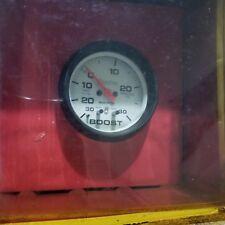 "Autometer 5877  Phantom Electrical Boost Vacuum Gauge 2 5/8"" Dia White Face NOS"