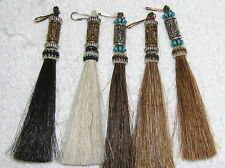 New listing Horse Hair & Beads Zipper Pull Tassels (5 mixed) New!