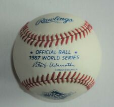 1987 World Series Minnesota Twins St Louis Cardinals Rawlings Baseball