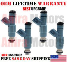 BEST UPGRADE 4 PCS OEM BOSCH Fuel Injectors 2007-2011 SAAB 9-3 2.0L I4 #55559397