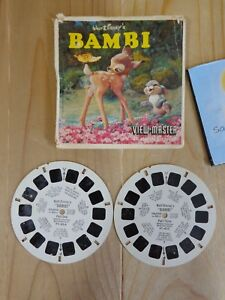 Sawyer's View Master Reels WALT DISNEY BAMBI Reel One and Three Only FT42