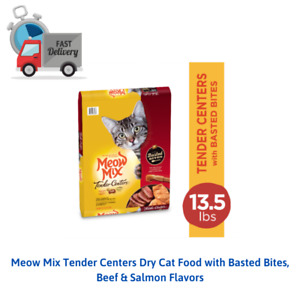 Meow Mix Tender Centers Dry Cat Food with Basted Bites, Beef & Salmon Flavors