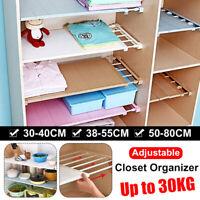 Closet Cabinet Shelf Rod Expandable Storage Rack Adjustable Organizer Divider