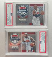 2015-16 Panini Prizm USA Basketball Kobe Bryant & Lebron James PSA 9