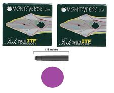 12 Monteverde International Standard Fountain Pen Ink Cartridges - Purple