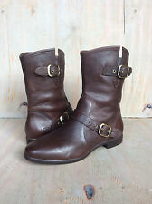 UGG FRANCES CHOCOLATE LEATHER ANKLE BOOTS WOMENS  US 8.5 NEW