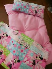 """Bedding Set For Dolls- """"Minnie Mouse"""" Theme (12""""x 24"""" Mattress-Pillow-Bed Cover)"""
