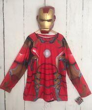 New Iron Man Costume Shirt & Mask Adult Men's XL Marvel Avengers Age Of Ultron