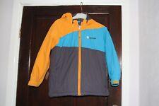 Hooded Jacket Coat 7-8 y.o. Blue Orange