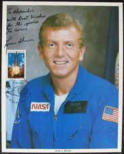 S1449) spaziale astronauta LOREN J. Shriver-NASA Photo Autograph UNISPACE Vienna