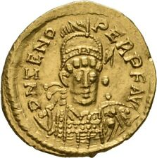 LANZ OSTGOTEN ITALIEN SOLIDUS RAVENNA ODOAKAR (476-493) ZENO GOLD ½TEZ86