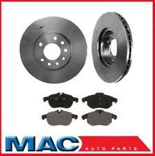 03-05 Saab 9 5 9-5 288MM Front 11 21/64 Inch Brake Rotors Brake Ceramic Pads
