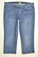 Old Navy FLIRT Size 12 Womens CROPPED CAPRI Stretch LOW RISE Denim Blue Jeans