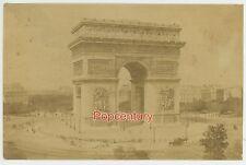 Vintage 1880s France Paris Albumen Photograph Triumphal Arch  Arc de Triomphe